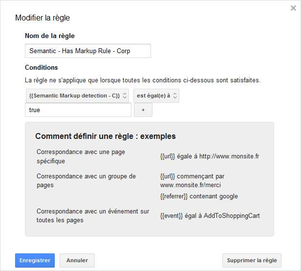 Creation d'une regle de déclenchement sous Google Tag Manager