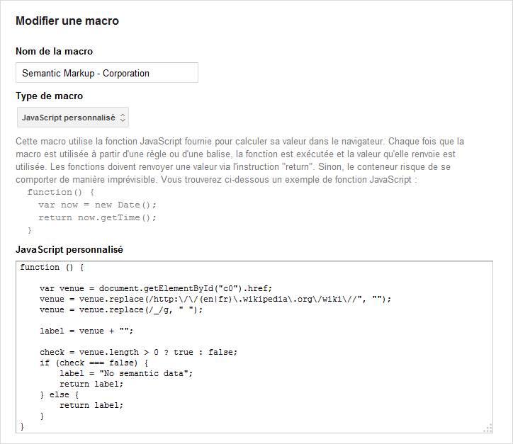 Macro de récupération d'identifiant de donnée structurée