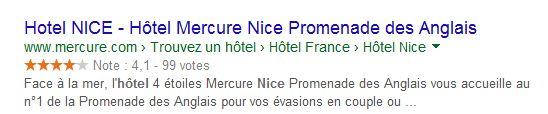 Extraits enrichis pour hotel
