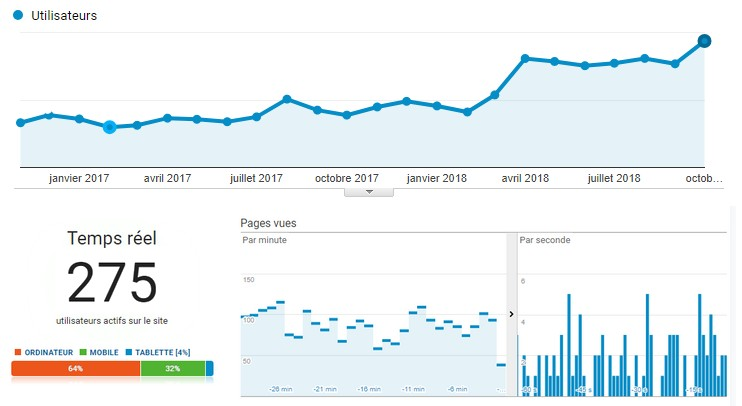 Google Analytics Results